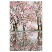 Pink Blossom Reflection 24-Inch x 36-Inch Canvas Wall Art