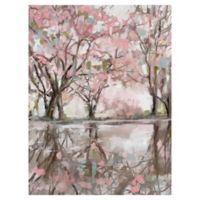 Pink Blossom Reflection 30-Inch x 40-Inch Canvas Wall Art