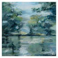 Lakeside Vista 24-Inch Square Canvas Wall Art