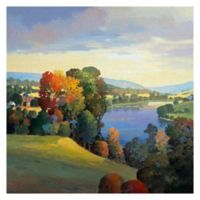 Hill & Valley III 24-Inch Square Canvas Wall Art
