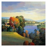 Hill & Valley III 35-Inch Square Canvas Wall Art