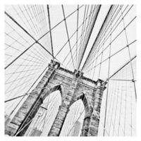 Brooklyn Bridge 1 30-Inch Square Canvas Wall Art