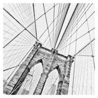 Brooklyn Bridge 1 35-Inch Square Canvas Wall Art