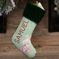 recious Moments® Personalized Baby's 1st Christmas Stocking in Green