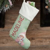 recious Moments® Personalized Baby's 1st Christmas Stocking in Ivory