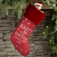Baby's First Christmas Personalized Christmas Stocking