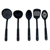 BergHOFF® Studio 5-Piece Nylon Kitchen Tool and Spoon Set in Black