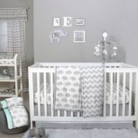 The Peanutshell™ Elephant 4-Piece Crib Bedding Set in Grey