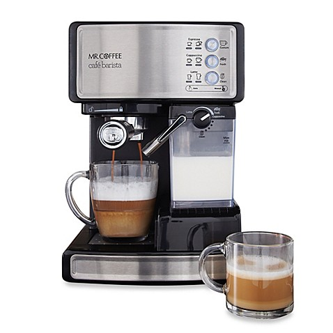 mr coffee cafe barista bvmc ecmp1000 espresso maker. Black Bedroom Furniture Sets. Home Design Ideas