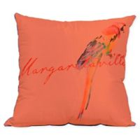 Margaritaville® Parrot Indoor/Outdoor Square Throw Pillow in Coral