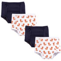 Hudson Baby® 4-Pack Foxes Size 12-18M Training Pants in Orange