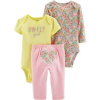 carter's® 3-Piece Sweet Girl Floral Multicolor Bodysuit and Pant Set