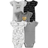 carter's® Preemie 5-Pack Flutter Sleeve Bodysuits