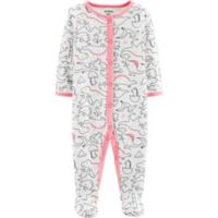 carter's® Preemie Dinosaur Footie in White
