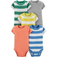 carter's® Preemie 5-Pack Bodysuits in Stripes/Solids