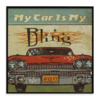 My Car Is My Bling Mancave II 13-Inch x 13-Inch Wall Art