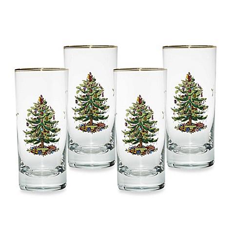Spode Christmas Tree Highball Glasses Set Of 4 Bed Bath Beyond