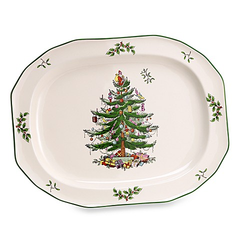 Spode Christmas Tree 14 Inch Sculpted Oval Platter Bed Bath Beyond