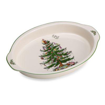 spode christmas tree 14inch au gratin dish