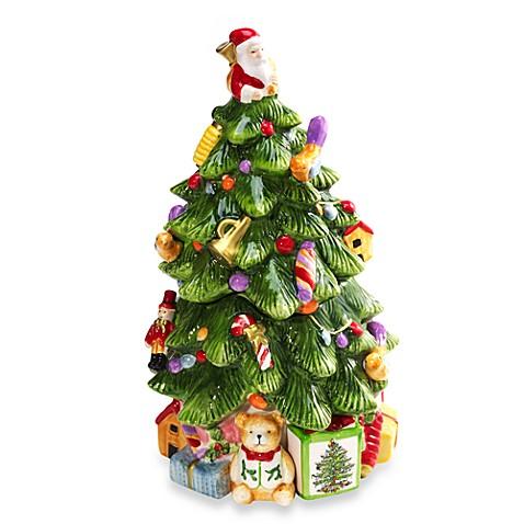 Spode Christmas Tree 12 Inch Tree Shaped Cookie Jar Bed Bath Beyond