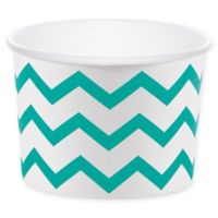 Creative Converting™ 24-Count Chevron Treat Cups in Teal