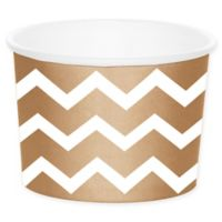 Creative Converting™ 24-Count Chevron Treat Cups in Brown