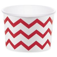 Creative Converting™ 24-Count Chevron Treat Cups in Red