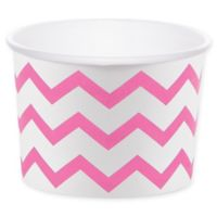 Creative Converting™ 24-Count Chevron Treat Cups in Candy Pink