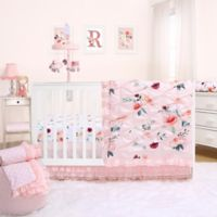 The Peanutshell™ Rose 3-Piece Crib Bedding Set in Pink