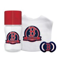 Baby Fanatic MLB Boston Red Sox 3-Piece Feeding Gift Set