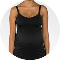 Cantaloop® Small Pregnancy and Nursing Tank in Black