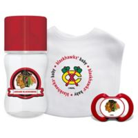 Baby Fanatic NHL Chicago Blackhawks 3-Piece Feeding Gift Set