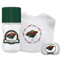 Baby Fanatic NHL Minnesota Wild 3-Piece Feeding Gift Set