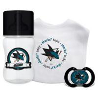 Baby Fanatic NHL San Jose Sharks 3-Piece Feeding Gift Set
