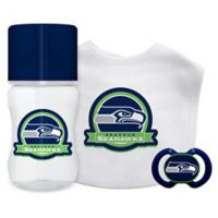 Baby Fanatic NFL Seattle Seahawks 3-Piece Feeding Gift Set