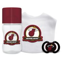 Baby Fanatic NBA Miami Heat 3-Piece Feeding Gift Set