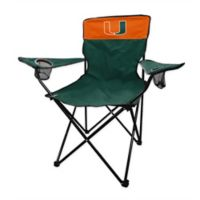 University of Miami Legacy Folding Chair in Hunter