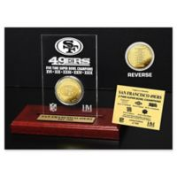 NFL San Francisco 49ers Five-Time Super Bowl Champions Gold Coin Etched Acrylic