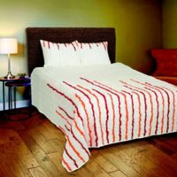Rizzy Home Stripe Queen Quilt Set in Orange