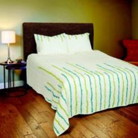Rizzy Home Stripe Queen Quilt Set in Light Blue