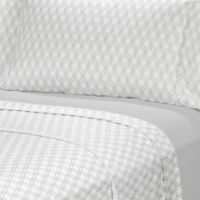 Rampage Solid and Printed Twin XL Sheet Set in Grey (Set of 2)