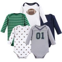 Little Treasures Size 3-6M 5-Pack Football Bodysuits in Green