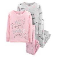 carter's® Size 12M 4-Piece Ballerina Pajama Set in Pink