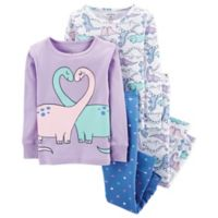 carter's® Size 3T 4-Piece Dino Pajama Set in Purple