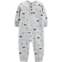 carter's® Size 12M Car Coverall in Grey