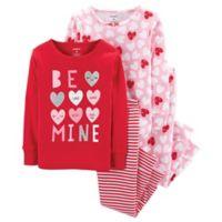 """carter's® Size 2T 4-Piece """"Be Mine"""" Sleepwear Set in Red"""