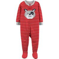 carter's® Size 12M Dog Footed Pajamas in Red
