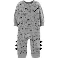 carter's® Size 9M Dinosaur Coverall in Grey