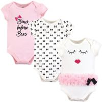 Little Treasure Size 6-9M 3-Pack Bows Before Bros Bodysuits in Pink