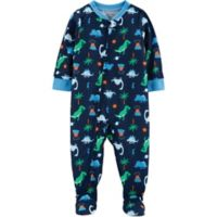 carter's® Size 12M Dinosaur Footed Pajamas in Navy